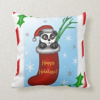 Christmas Panda Cushion