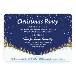 Christmas Party Christmas Snow & Trees Invitation
