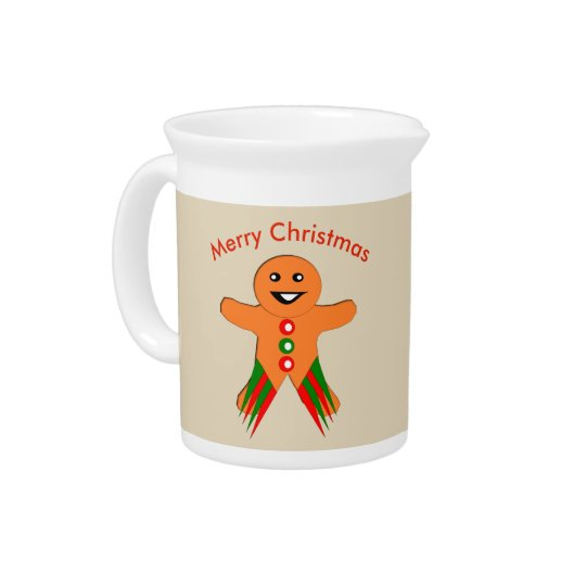 Christmas Party Gingerbread Man Pitcher
