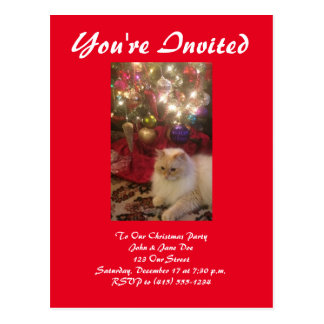 Christmas Party Invitation Postcard