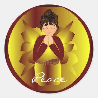 Christmas Peace Angel I Sticker - Customisable