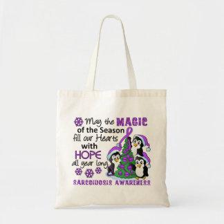 Christmas Penguins Sarcoidosis Tote Bag