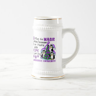 Christmas Penguins Sarcoidosis Beer Steins