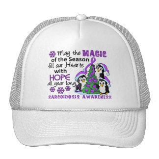 Christmas Penguins Sarcoidosis Trucker Hat