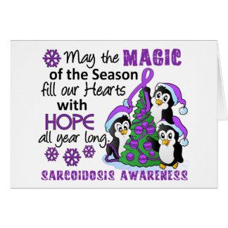 Christmas Penguins Sarcoidosis Greeting Card