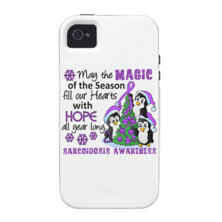 Christmas Penguins Sarcoidosis iPhone 4/4S Case