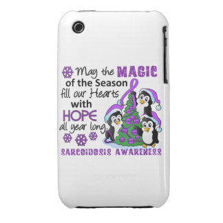 Christmas Penguins Sarcoidosis iPhone 3 Case-Mate Cases