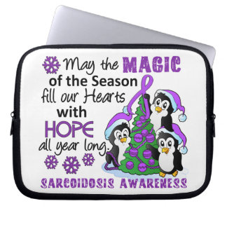Christmas Penguins Sarcoidosis Laptop Computer Sleeves