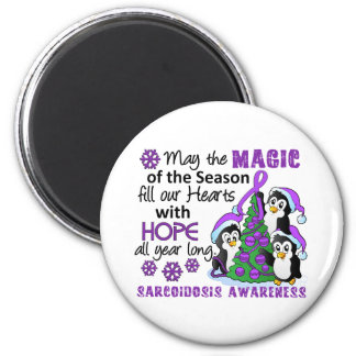 Christmas Penguins Sarcoidosis 6 Cm Round Magnet