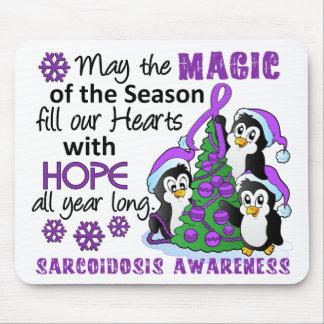 Christmas Penguins Sarcoidosis Mouse Pad