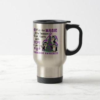 Christmas Penguins Sarcoidosis Stainless Steel Travel Mug