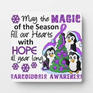 Christmas Penguins Sarcoidosis Photo Plaques
