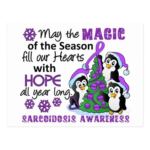 Christmas Penguins Sarcoidosis Postcard
