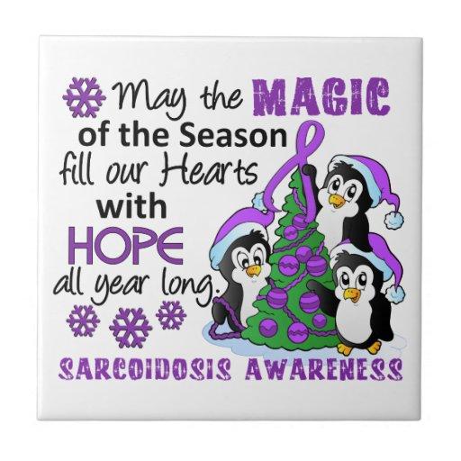 Christmas Penguins Sarcoidosis Tile