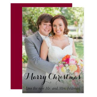 Christmas Photo Card- Just Married 13 Cm X 18 Cm Invitation Card