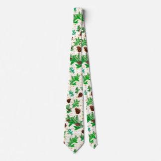 Christmas pine cones tie