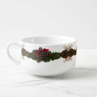 Christmas Pinecones Soup Mug