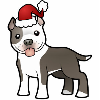 Christmas Pitbull / American Staffordshire Terrier Photo Sculptures