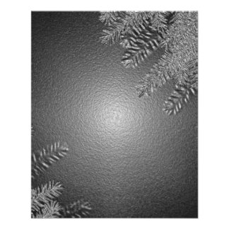 Christmas Poinsettia Black And Grey II Full Color Flyer