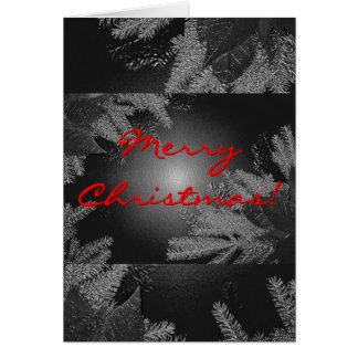 Christmas Poinsettia Black And Grey In English Greeting Cards