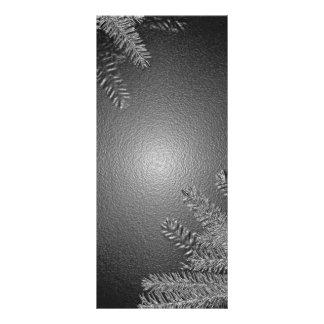 Christmas Poinsettia Black And Grey Rack Cards