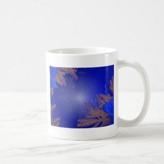 Christmas Poinsettia Blue Coffee Mugs