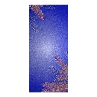 Christmas Poinsettia Blue Custom Rack Cards