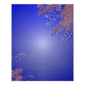 Christmas Poinsettia Blue II 11.5 Cm X 14 Cm Flyer
