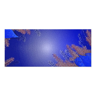 Christmas Poinsettia Blue II 4x9.25 Paper Invitation Card
