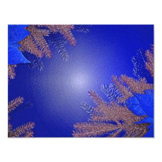 Christmas Poinsettia Blue 4.25x5.5 Paper Invitation Card