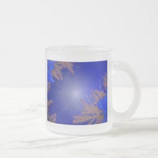 Christmas Poinsettia Blue VI Coffee Mugs
