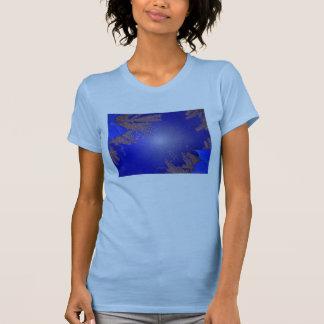 Christmas Poinsettia Blue VII T-shirts
