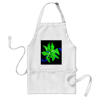 Christmas Poinsettia Flower In Bright Green Apron