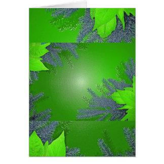 Christmas Poinsettia Green Card