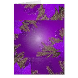 Christmas Poinsettia Purple Greeting Card