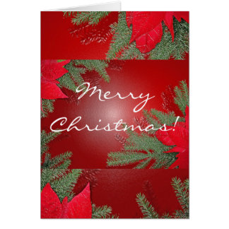 Christmas Poinsettia Red In English Cards