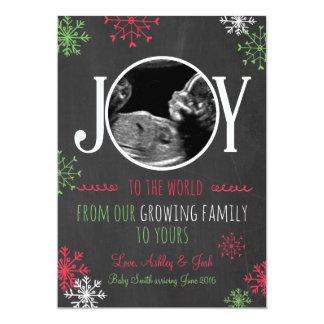 Christmas pregnancy ultrasound announcement Joy