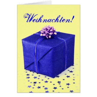 Christmas Presents Weihnachten Blue II Greeting Cards
