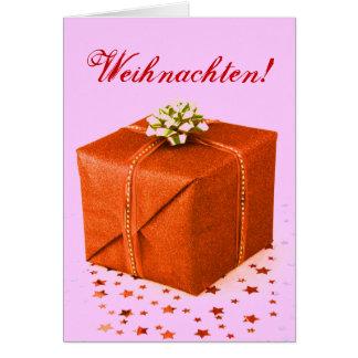 Christmas Presents Weihnachten Orange IV Greeting Card