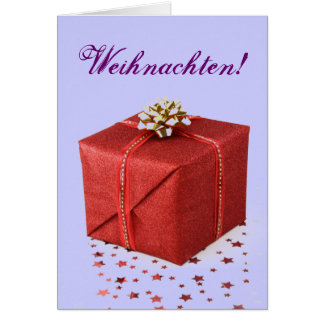 Christmas Presents Weihnachten Red I Greeting Card