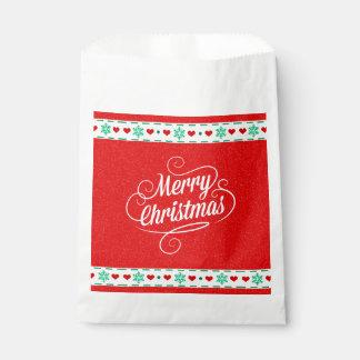 Christmas print favour bags