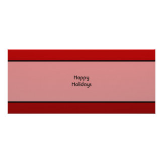 Christmas Pudding Happy Holidays On Red Personalized Invite
