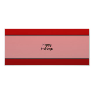 Christmas Pudding. Happy Holidays. On Red 4x9.25 Paper Invitation Card