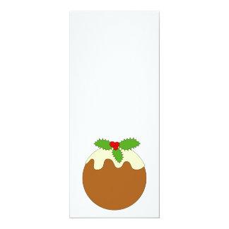 Christmas Pudding. White background. Invitation