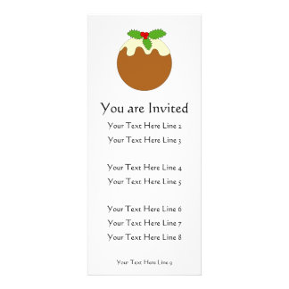Christmas Pudding. White background. Custom Announcement