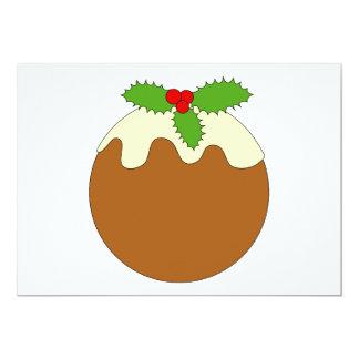Christmas Pudding. White background. Custom Invitations