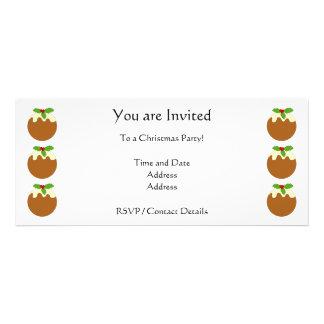 Christmas Pudding White background Personalized Invitation