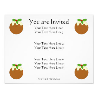 Christmas Pudding White background Announcement