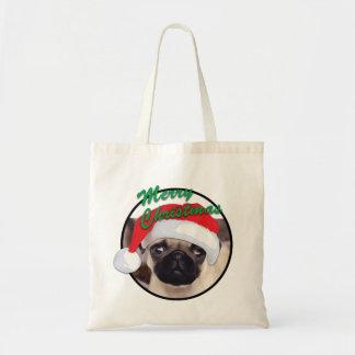 Christmas Pug - Budget Tote