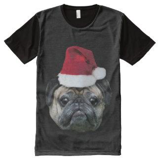 Christmas pug dog All-Over print T-Shirt